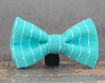 Turquoise Doggie Bow Tie, Wedding Dog Tie Accessory