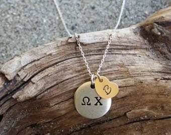 Greek Necklace, Initial Necklace, Greek, Necklace, Silver, Greek Letters