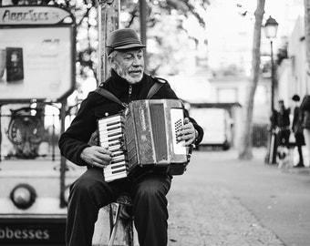 Paris Photography - Paris Street Photography, Montmartre Photograph, Paris in black and white, Paris Print, Paris Decor