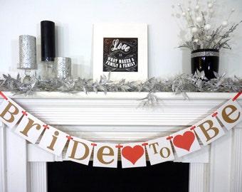 Bridal Shower Banner/ Bridal Shower Decorations/ Bride To Be Banner/ Wedding Garland/ Bachelorette/ Hens Party Sign / Wedding Decorations