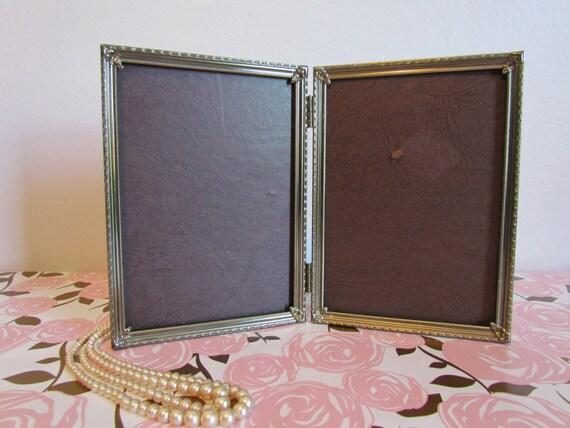 Vintage Art Deco Double Pinterest Wedding Frame Gold Metal