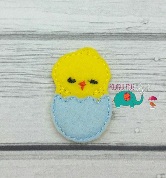 Chick In Easter Egg Set Of 4 Uncut Wholesale Felties Felt