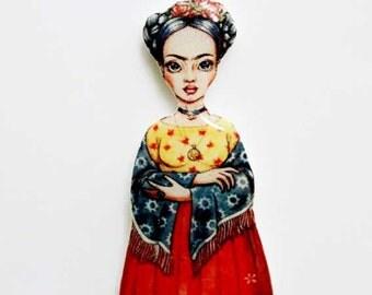 Frida Kahlo pin Frida Kahlo jewelry|for|girls feminist jewelry girl power feminism nasty woman mexican jewellery artist jewelry|for|teachers