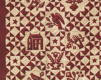 Kathy Schmitz Studio - Simply Red -  Four Projects for Quilting and Redwork Embroidery - Pattern Leaflet