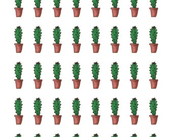 Cactus Makes Perfect Printable Typography Print