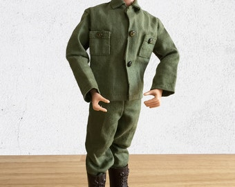 1964 GI Joe Action Soldier 1st Series Action Figure / Original GI Joe by Hasbro Patent Pending Army Action Doll