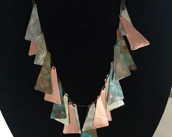 Copper Necklace - TRIANGLES