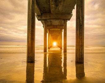 Nautical Decor, California Wall Art, Large Art, Beach Photography, Nautical Nursery, Ocean Photograph, Beach House Decor, Summer Photo