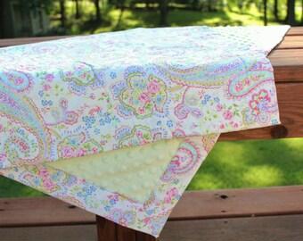 Pastel Paisley Baby Blanket