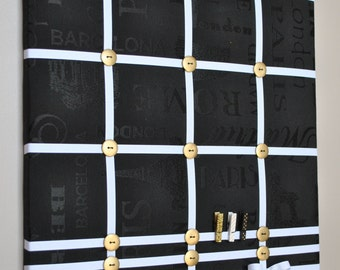 Memo board, photo board, memory board, vision board, fabric memo board, French memo board, notice board, photo board, memo boards, wall art