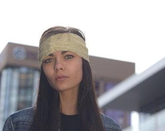 Lace Stretch beige headband