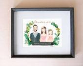 Family portraits, Customized family Illustration, Customized family Portrait - Personalized family Portrait