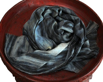 Indigo dyed Cotton Stole (TX-082-03)
