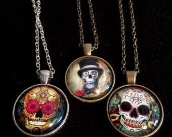 The Skull cabochon collection zombie skull/ gentleman skull / clown skull