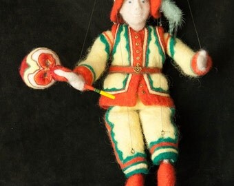 Gepetto, Orginal Needle Felted Art Marionette