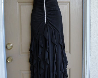 Scott McClintock Vintage dress with rhinestone detail in the front size medium 8 STRETCHY  Made in USA