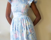 80s floral dress, 80s clothing, pastel grunge, soft grunge, princess dress, pastel punk dress, kawaii dress, summer dress, pale pink dress