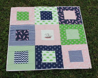 Nautical Baby Girl Quilt
