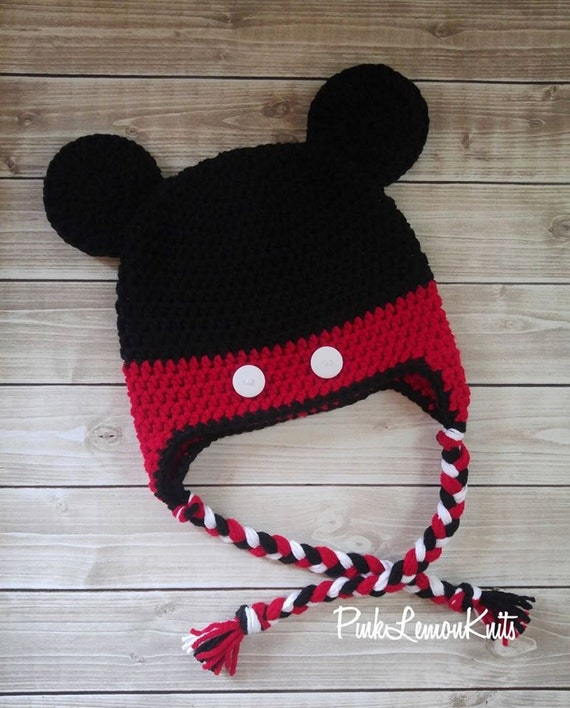 Items similar to Mickey Mouse hat, crochet mickey hat, baby photo prop, baby ...