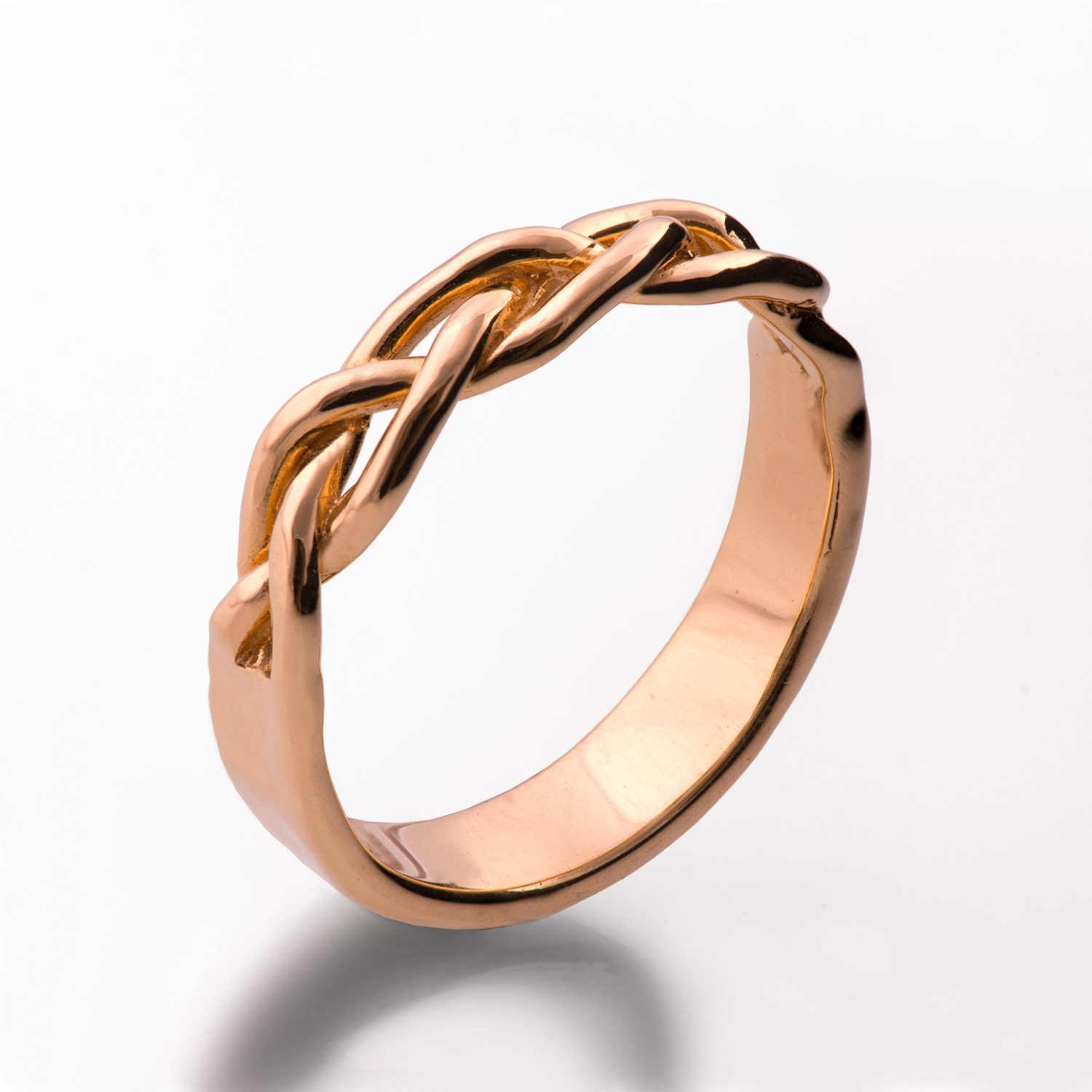 Braided Ring 18K Rose Gold Wedding Ring Wedding Band 18K