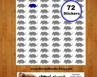 Armadillo Stickers, 72, Armadillo Sticker Set, Armadillo Envelope Seals, Armadillo Envelope Stickers, Armadillo, Scrapbook stickers, party