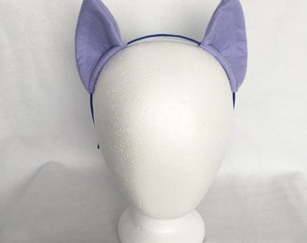 Lavender Pony Ears, Costume Ears, Cosplay Ears Headband, twilight sparkle ears, twilight sparkle costume light purple my little pony ears