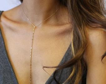 Modern Lariat Necklace