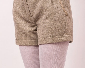 Tweed woolen winter shorts