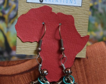 Handmade African Earrings - A Unique Set You Won't Find Anywhere Else