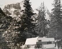 Vintage Photo..GMC Truck Camper..1960's Original Photo, Old Photo Snapshot, Vernacular Photography, Americana Everyday Life, Paper Ephemera