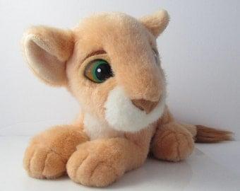Nala Lion King Purring Plush Cub Stuffed Toy 1993 Disney - 9.5 Inches