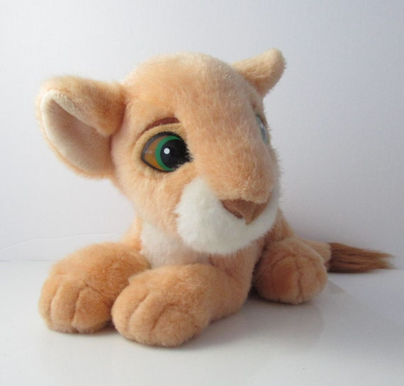 Nala Lion King Purring Plush Cub Stuffed Toy 1993 Disney 9.5