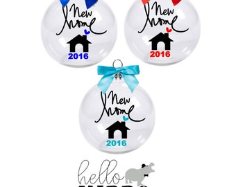 Realtor Gift to Clients/ New Home Christmas Ornament/ Personalized New Home with Gift Box