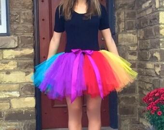 Rainbow Tutu - Adult Tutu - Pony Tutu - Pride Tutu - Gay pride
