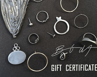 BBDF Gift Certificate. Gift For Holiday. Gift Card.