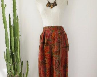 Scribble high waist pants. Bronze trousers. Tribal harem pants. 90s graffiti high waist trousers