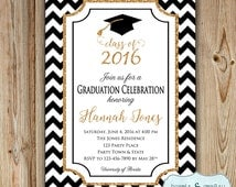 Graduation Party Invitation  - College Graduation Invitation - High School Graduation Party Invitation - Class of 2016 DIGITAL FILE to PRINT