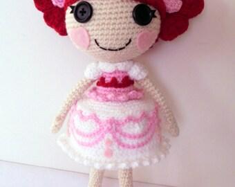 Crochet PATTERN Lalaloopsy Valentina amigurumi doll
