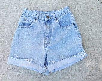 High Waisted Denim Shorts / XSmall / Small