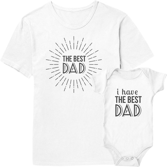 Best Dad Father & Baby Shirts | Gifts for Parents | Father and Son Matching Shirts | Father's Day Gift Ideas