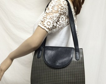 Churka Marley, Hounds tooth, leather purse,bag, shoulder bag, Free shipping in the US