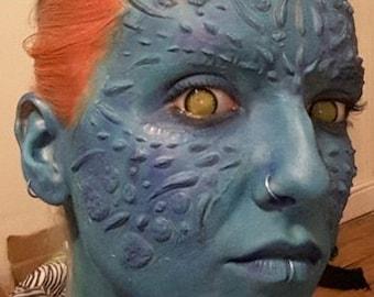 Mystique like latex facial prosthetics