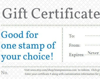 Gift Certificate - Return Address Stamp