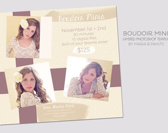 INSTANT DOWNLOAD - Photography Marketing Template - Boudoir Session - Marketing Template - Minis - Valentine's Day - Senior marketing