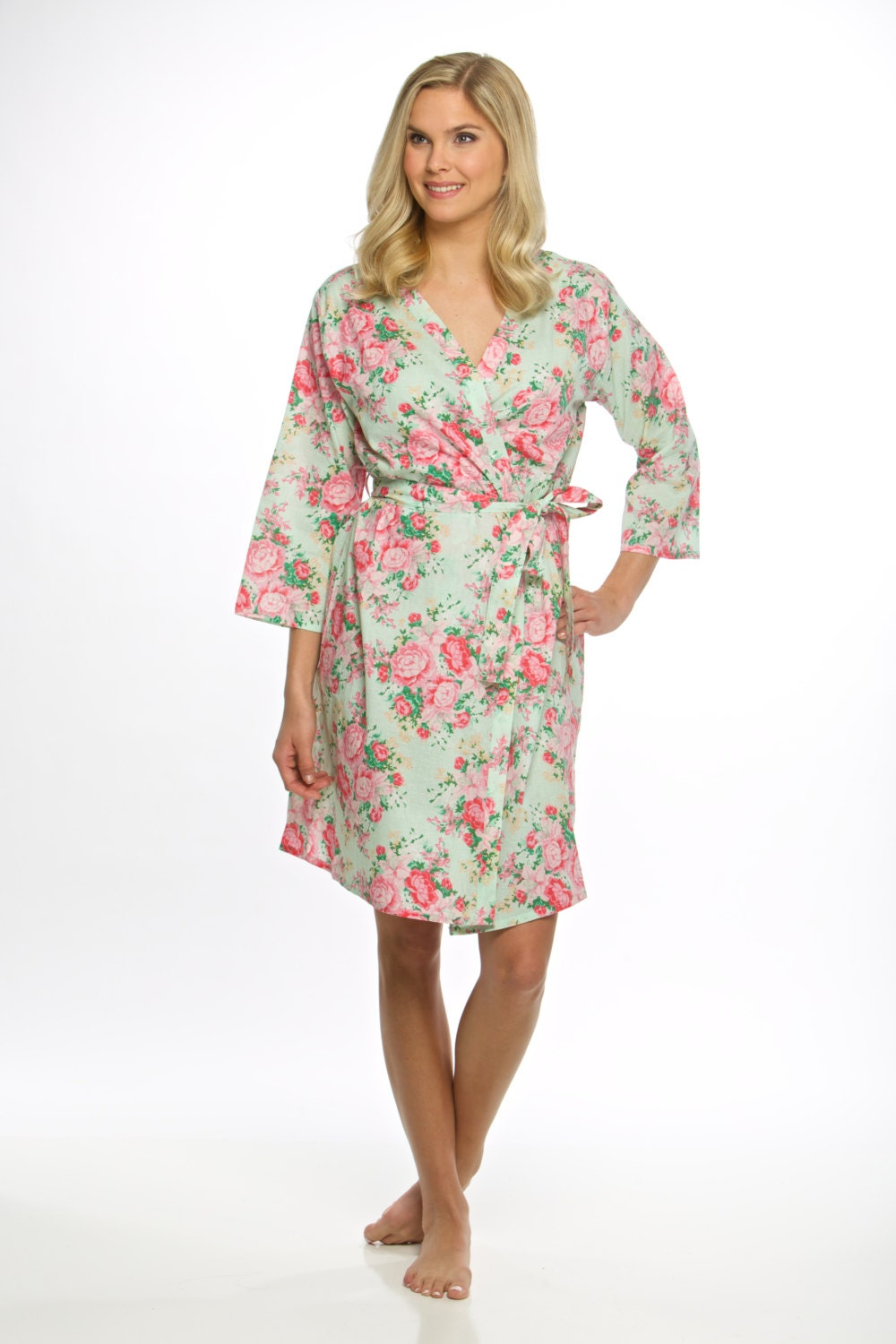 cotton floral bridesmaid robes free fast delivery wedding