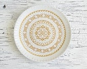 White wedding plate - Hand painted plate - Decorative plate - Wedding gifts - Pastel Decor - Wall plate