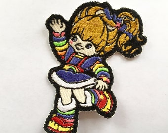 Rainbow Brite Embroidered Iron-On Patch