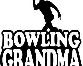 Bowling Grandma Hoodie/ Bowling Grandma Gift/ Bowling Grandma Clothing/ Bowling/ Boy Bowler Bowling Grandma Hoodie Sweatshirt Many Colors