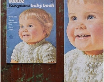 Vintage Knitting Pattern Book, 'Patons Easycare Baby Book' SC119, 1960's Original Paper patterns, Retro Baby Knitwear / crochet
