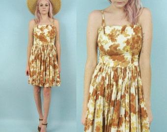 50s Floral Picnic Dress